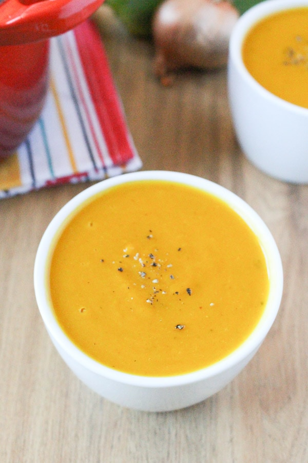 Oven Roasted Kabocha Squash Soup