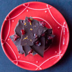 Cranberry Orange Dark Chocolate Bark