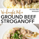 pin for paleo ground beef stroganoff