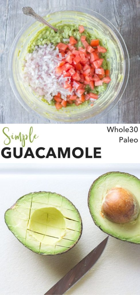 pin for simple Whole30 guacamole