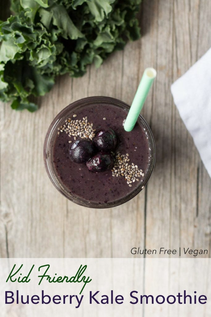 pin for kale blueberry smoothie