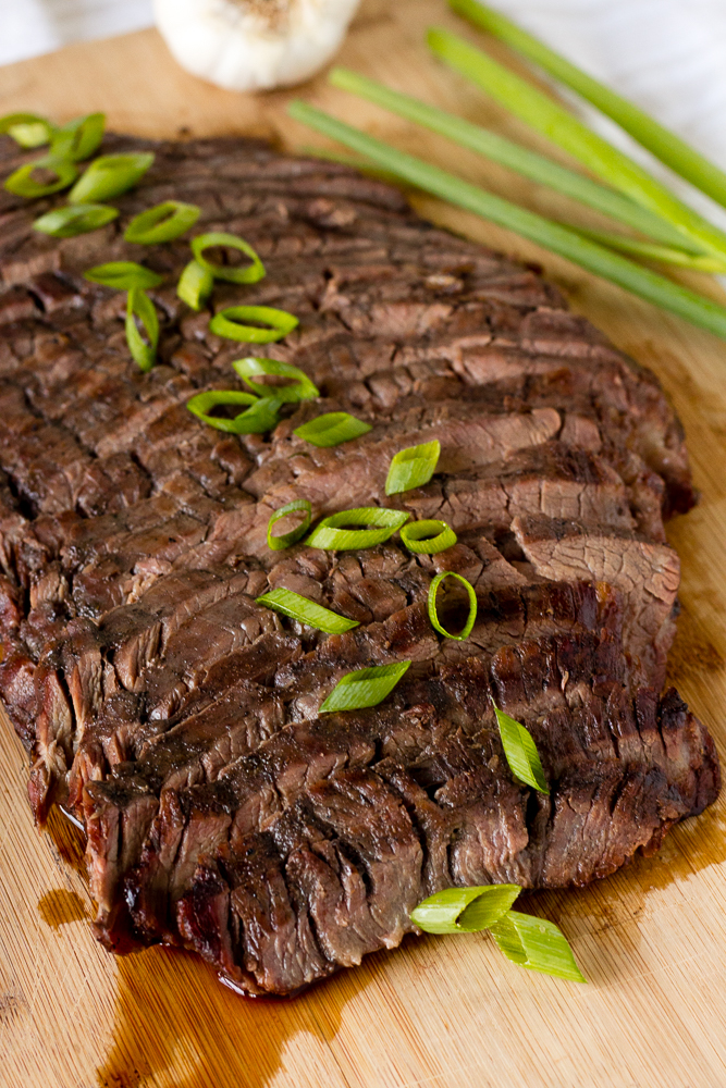 sliced asian flank steak