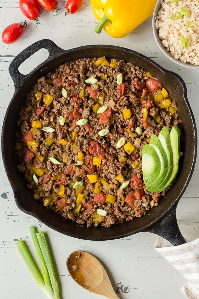 Mexican Ground Beef Skillet Gf Paleo Whole30 Hot Pan Kitchen