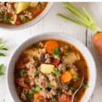 pin for ground beef soup