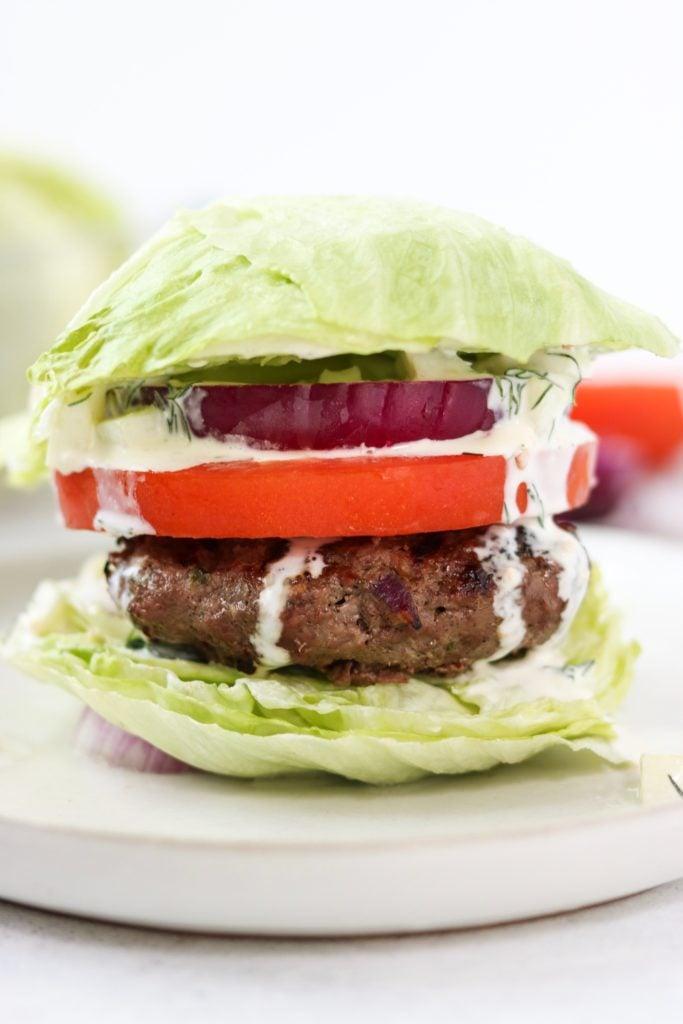 ground beef greek burgers