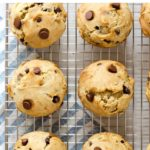 pin for banana chocolat chip muffins