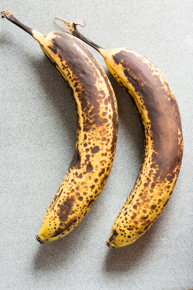 two over ripe bananas