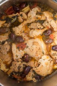 cooked greek chicken in instant pot