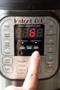 setting instant pot timer to 6