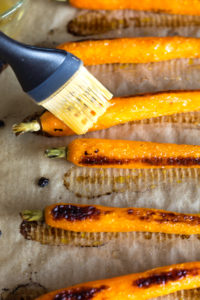 glazing roasted carrots with honey butter