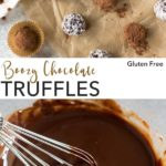 pin for boozy chocolate truffles recipes