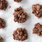 pin for no bake oatmeal cookies with peanut butter