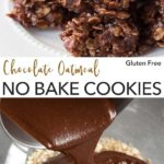 pin for no bake chocolate oatmeal peanut butter cookies