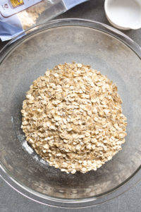 oats in a clear bowl