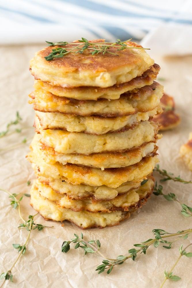 stack of easy potato pancakes