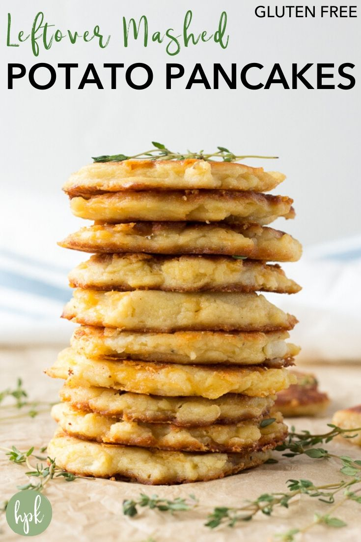 pin for leftover mashed potato pancakes