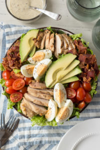 chicken cobb salad with dressing on the side