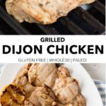 pin for grilled dijon chicken recipe