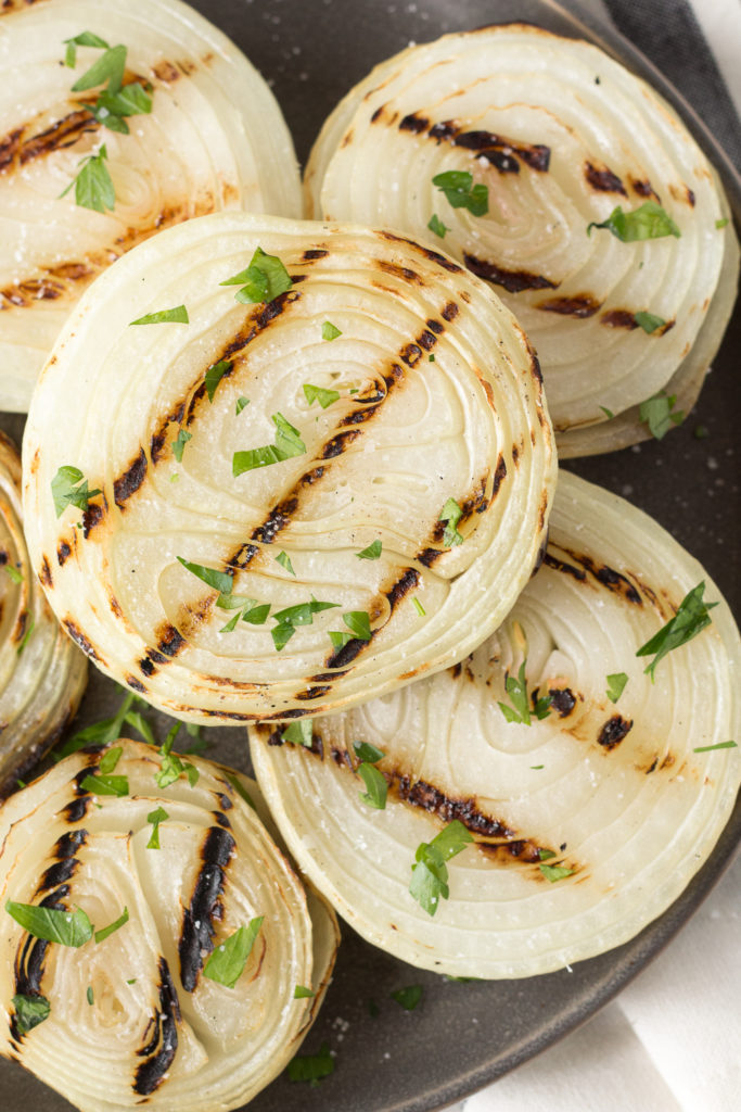 grilled onions on a plate