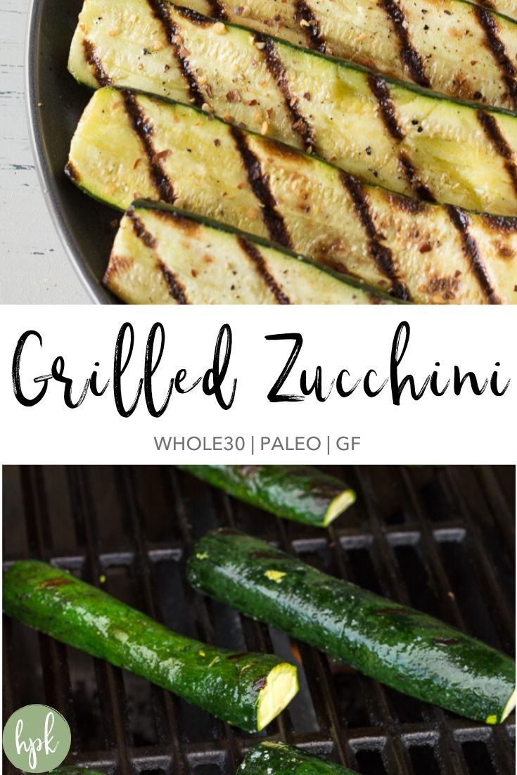 pin for grilled zucchini recipe