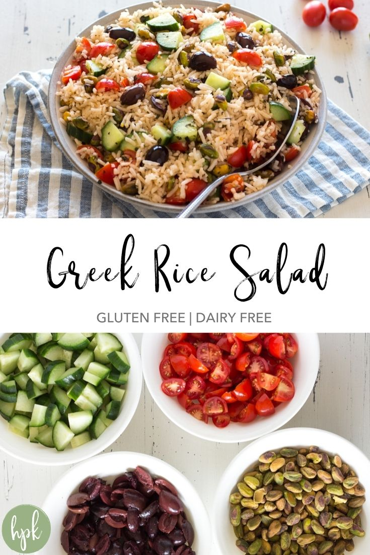 pin for greek rice salad recipe