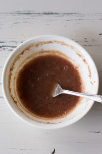 mashed date paste in a bowl