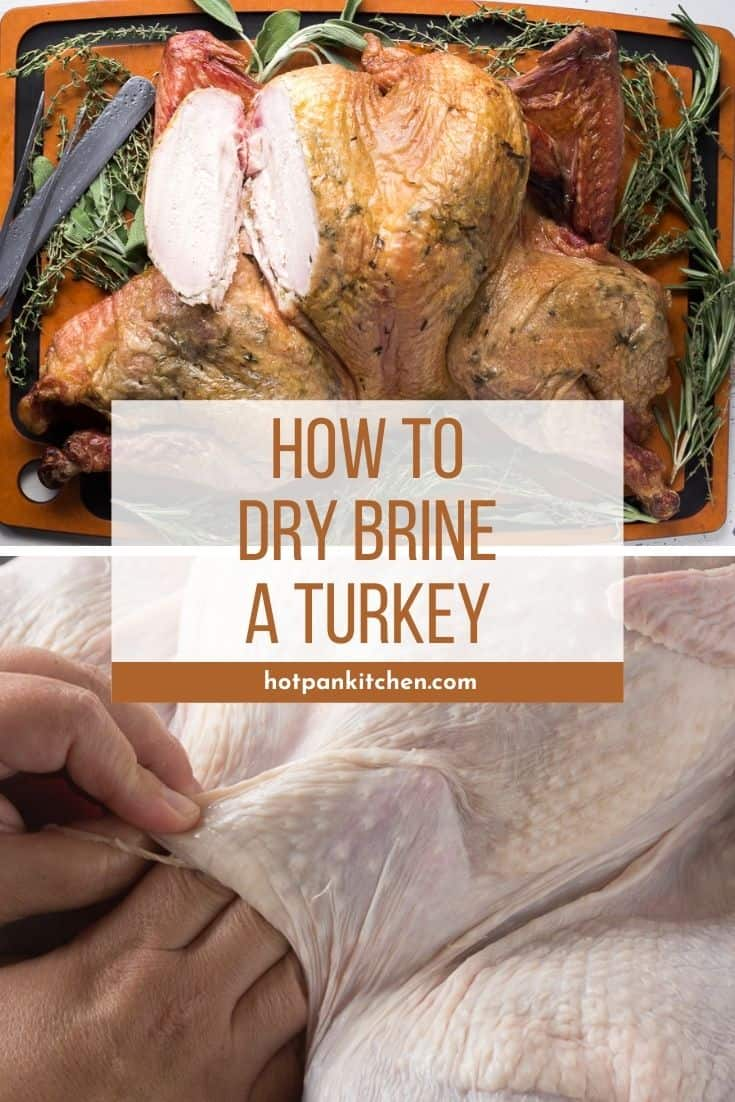 pin for how to dry brine a turkey