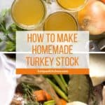 pin for homemade turkey stock