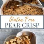 pin for gluten free pear crisp