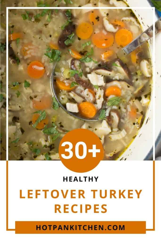 pin for healthy leftover turkey recipe
