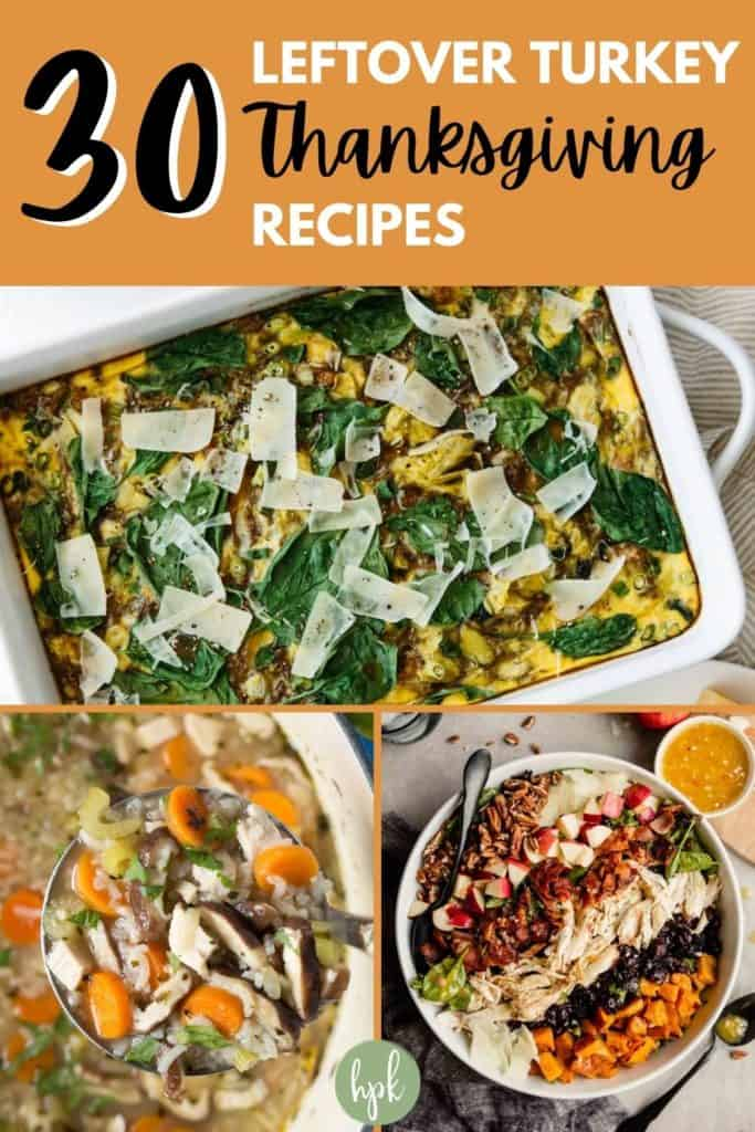 pin for healthy leftover turkey recipes