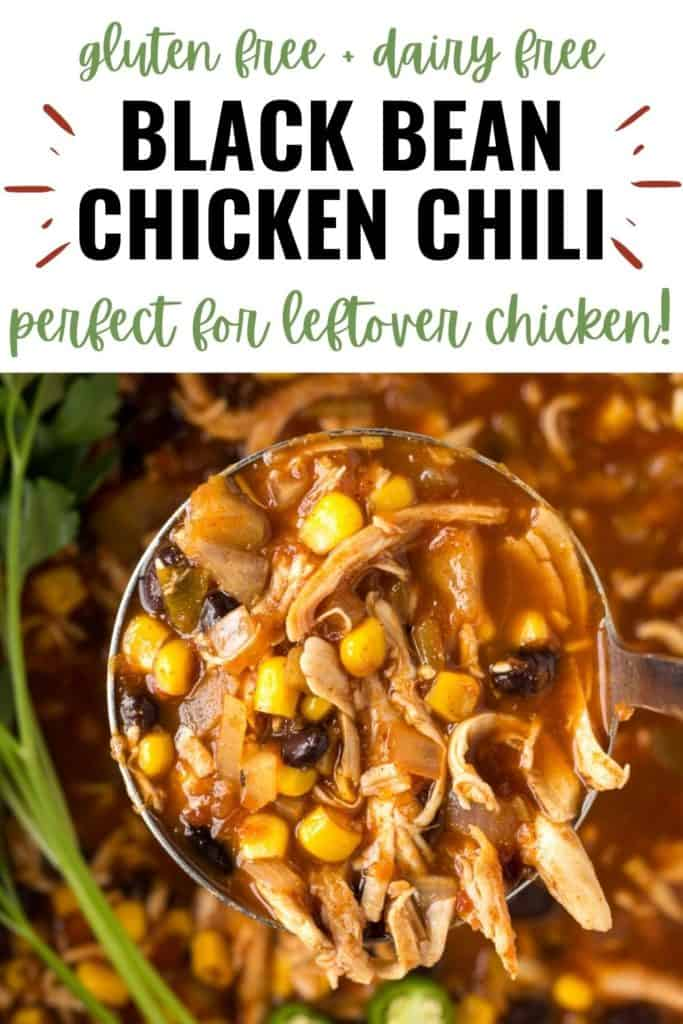 pin for black bean chicken chili