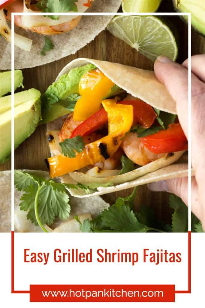 pin for grilled shrimp fajitas