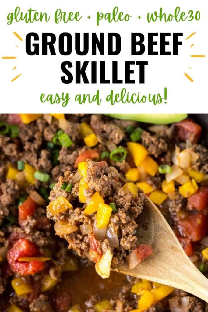 pin for mexican ground beef skillet